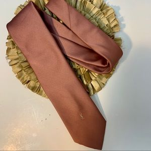 Yves Saint Laurent Vintage Blush Mauve Tie